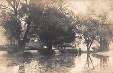 Real Photo Postcard Home, Lake & Garden in East Hampton, Massachusetts~108328
