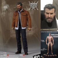 "1/6 Scale X-Men Wolverine Logan Head Sculpt+Clothes Set+Figure Body 12"" Hot Toys"