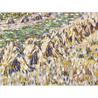 Rohlfs Grain Stacks Cornfield Expressionist Painting Canvas Art Print Poster