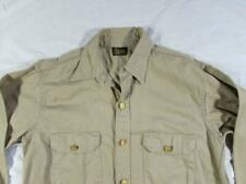 Vtg 50s Kast Iron Cone Fabric Sanforized Union Made Gusset Work Shirt Sz 15.5
