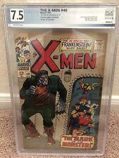 X-men #40 PGX Not CGC 7.5, Frankenstein  cover. 1st series.  1968 Origin Cyclops