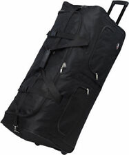 """36"""" Large Polyester Rolling Duffel Wheeled Luggage Suitcase Travel Duffel Bag"""