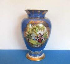 Royal Vienna Hand Painted Portrait Vase with Gold Trim