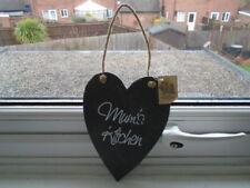 Slate effect heart shaped Mum's Kitchen plaque, NEW birthday gift idea?