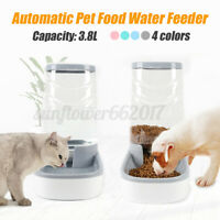 3.8L Large Automatic Pet Food Drink Dispenser Dogs Cat Feeder Water Bowl Dish AU