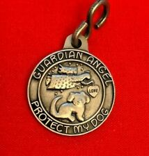 DOG/GUARDIAN ANGEL PET MEDAL--SO CUTE!   with attached S Hook**NEW** in pkg.