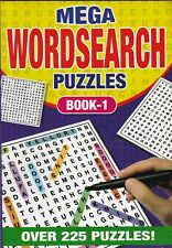 WORDSEARCH PUZZLE BOOK 1 225 PUZZLES - A5 PAPERBACK - BUY ANY 2 GET ANY 1 FREE