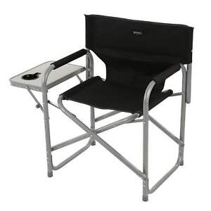 Regatta Director's Chair With Side Table Black Seal Grey