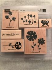 Stampin Up Just Cause I Like You Set Of 6 Wood Mounted Rubber Stamp Su 2006