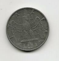 World Coins - Italy 1 Lira 1939 Coin KM# 77b