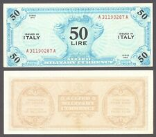 Italy 50 Lire Allied Military Currency 1943