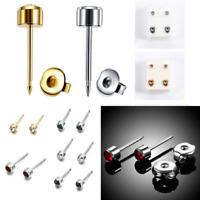 1Pair Crystal Surgical Steel Ear Studs Kit Piercing Tool Earing Stud Jewelry H7