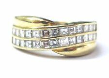 Cartier 18Kt Asscher Cut 2-Row Diamond Anniversary Yellow Gold Ring