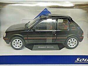 SOLIDO 421185790 1:18 1990 Peugeot 205 GTI MK2-Nero