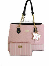 Betsey Johnson LUV BETSEY QUILTED STARS/ TOTE /  WALLET/  BLUSH