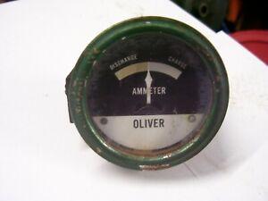 VINTAGE OLIVER  77 GAS ROW CROP TRACTOR -AMP GAUGE - 1955