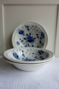 Poole 'Blue Sprays' Cereal Bowl x 3 Tableware