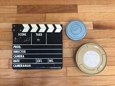 Movie Clapper / Scene Marker, Vintage Film Canisters (8mm, 16mm?) Alan Gordon