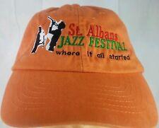 St. Albans Jazz Festival Baseball Cap Orange Black Spectrum Adjustable Snapback