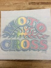 MOTO CROSS vintage 70s iron on t shirt transfer