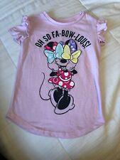 Disney Minnie Mouse Toddler Girls 3 3T Short Sleeve Tee Shirt Top Pink