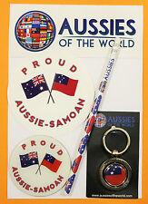 PROUD AUSSIE - SAMOAN GIFT AUSTRALIAN KEYRING MAGNET STICKER SAMOA SOUVENIR