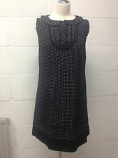 Monsoon black pattern(white dots) viscose women's dress size 12