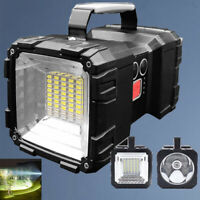 Handheld Double Head LED Spotlight Flashlight USB Rechargeable Torch Searchlight