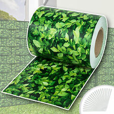 Garden fence screening privacy shade 70m roll panel cover mesh foil green leaves
