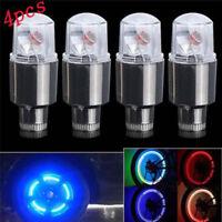 4Pcs Cool Lamp Bike Car Motorbike Wheel Tire Tyre Valve Cap Neon LED Flash Light