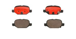 For Fiat 500 2012-2015 Rear Ceramic Slotted Disc Brake Pads Set Brembo P23151N