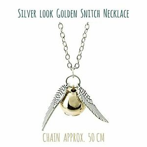 ⭐️ Harry Potter Golden Snitch Quidditch Necklace Gift ⭐️