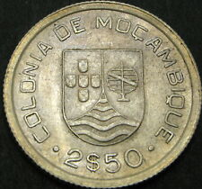 MOZAMBIQUE 2.5 Escudos 1935 - Silver - VF+ - 1000 ¤