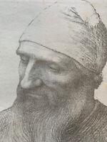 alphonse Legros Gravure lithographie tete d'étude Homme Barbu Barbe