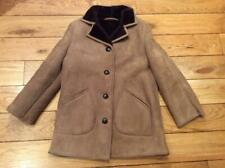 WOMEN'S VINTAGE 1960'S /70'S LEATHER BUTTONED SHEEPSKIN COAT UK 16..IMMACULATE.