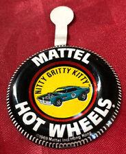 1969 Mattel Hot Wheels Nitty Gritty Kitty Button Badge