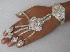 Indische Handschmuck Bollywood Sklavenarmband Bauchtanz Schmuck versilbert