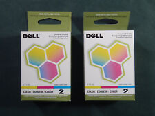 Lot of 2 Dell Color Ink Cartridges #7Y745 or Number 2 Color New in Box