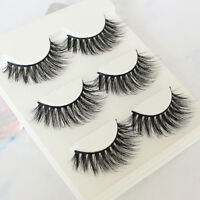 3D Handmade 100% Real Mink Luxurious Natural Cross Soft Lashes False Eyelashes