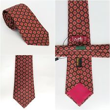 "Men's HERMES Pure Silk Tie Necktie NWOT 7331 EA -  Red Yellow 57"" X 3.25"""