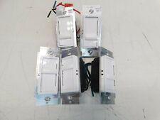 Lot of 5 Decora SureSlide Single Pole Slide Dimmer Switch Leviton White (lot#7)