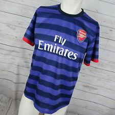 Arsenal Fc Medium Jersey Mens Purple Stripe Soccer Futbol By Nike Monty #8