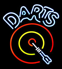 "Darts Logo 17""x14"" Neon Sign Lamp Light Beer With Dimmer"
