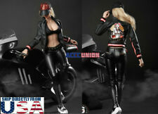 "1/6 Motorcycle Leather Jacket Pants Hat Set For 12"" PHICEN Hot Toys Figure USA"
