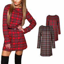 Damenkleider mit U-Ausschnitt aus Baumwollmischung für die Freizeit