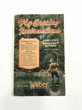 Vintage Weber 1947 Fly Fishing Casting Instructions Catalog Rare Lure Antique