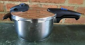 Alter Fissler Pressure Cooker Cooking Pot Stainless Steel with Lid & Sealing