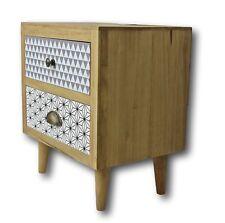Night Table Retro Cabinet Dresser Braun Nightstand Wood Telephone Hipster