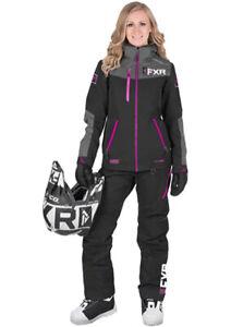 Fxr Ladies  Elevation Lite Dri-Link 2Pc Black/Char/Fuchsia Size 12