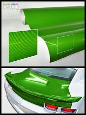 2ft x 5ft green carbon gloss authentic look tech art 3 layer car vinyl wrap DIY